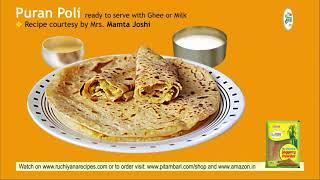 Puran Poli Recipe - Maharashtrian Pooran Poli - Sweet Puranpoli